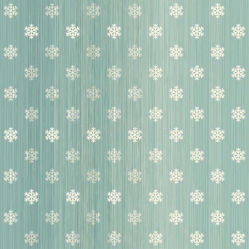 Płatek śniegu polki kropki bezszwowy wzór ilustracja wektor