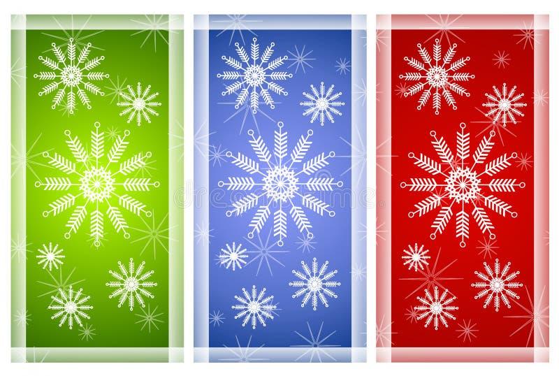płatek śniegu różnych środowisk royalty ilustracja