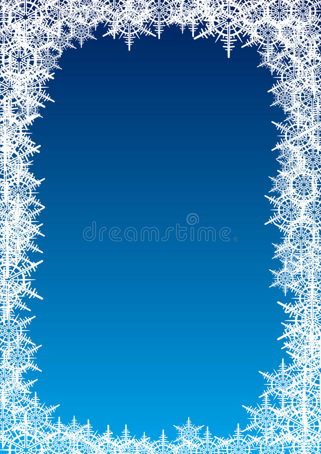 Płatek śniegu rama royalty ilustracja