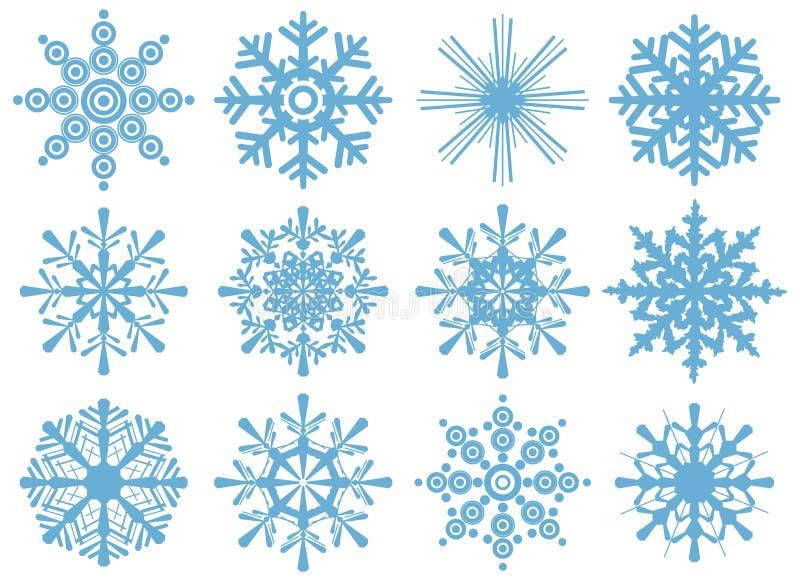 płatek śniegu ustaleni płatek śniegu royalty ilustracja