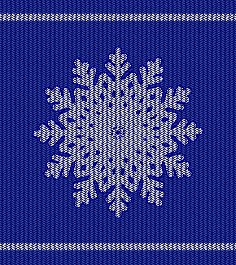 Płatek śniegu w nowego roku knitwear royalty ilustracja