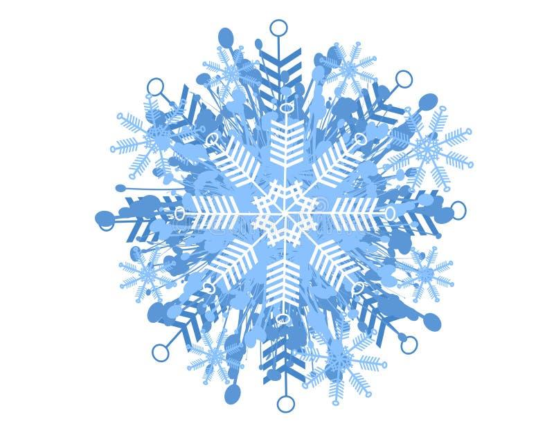 płatek śniegu wzoru dekoracyjny royalty ilustracja