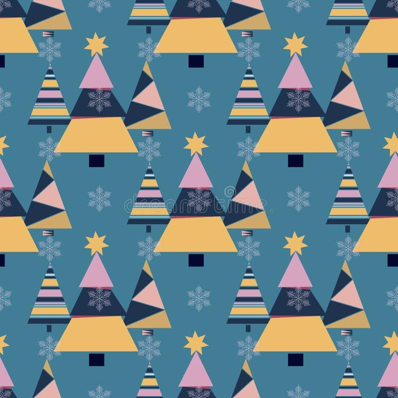 Płatek śniegu zimy choinki jedliny projekta sezonu Grudnia śniegu gwiazdy świętowania ornamentu wakacyjny wektor ilustracja wektor