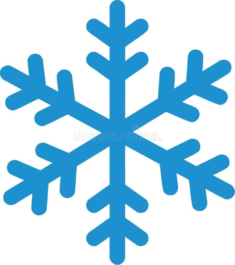 Płatek śniegu zimy ikona ilustracja wektor