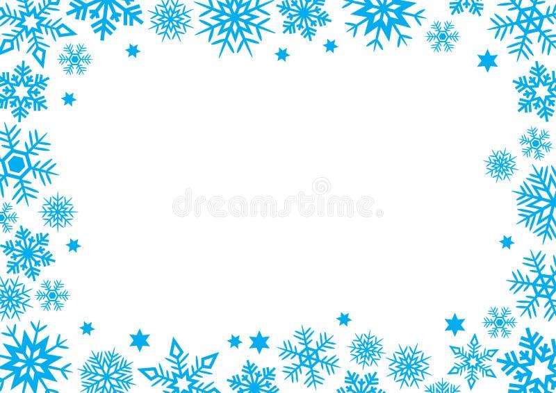 Płatek śniegu zimy pojęcia słowa przestrzeni tło ilustracji