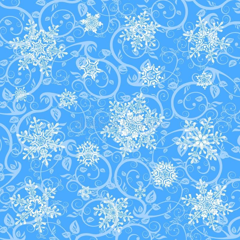 płatek śniegu zimy tapety ilustracja wektor