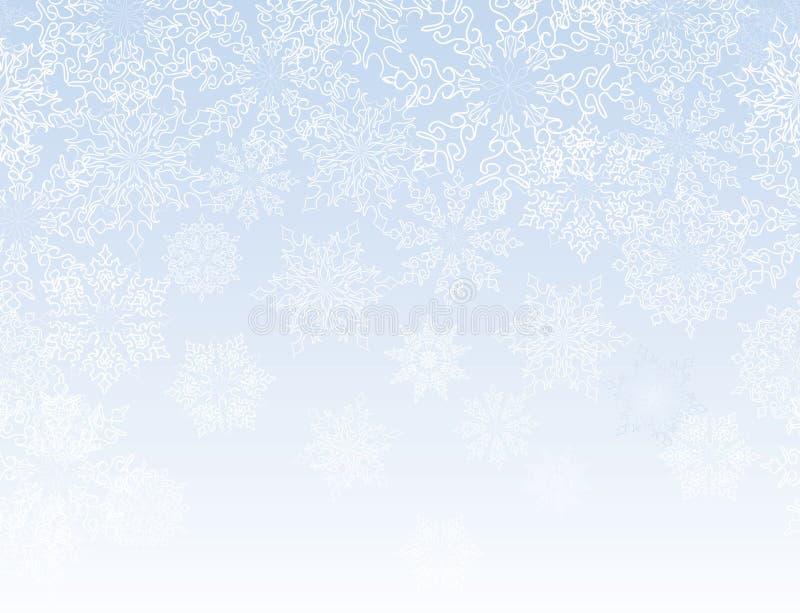 Płatków śniegów bezszwowy granicy wzór ilustracji