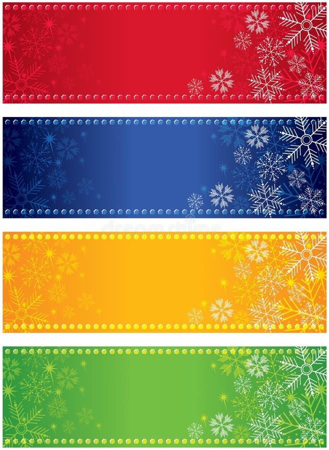 Płatków śniegów Sztandary ilustracji