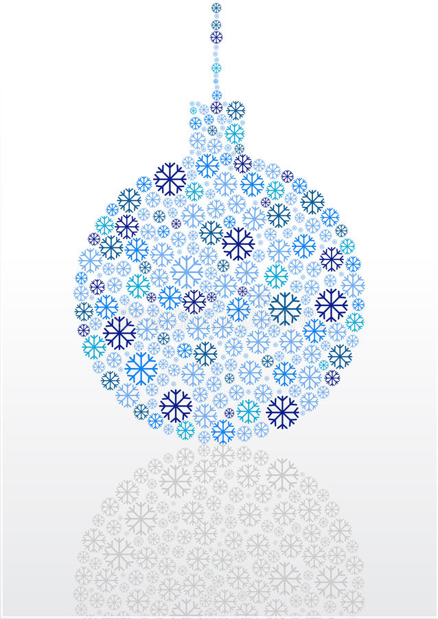 Płatków śniegu boże narodzenia balowi ilustracji