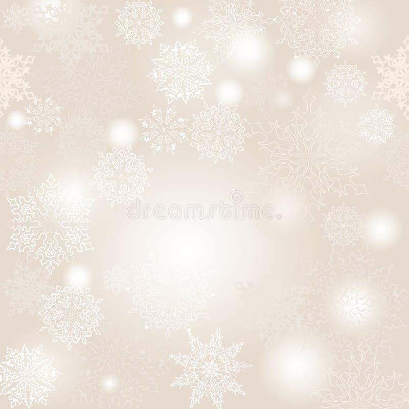 Płatków śniegu bożych narodzeń bezszwowy wzór ilustracja wektor