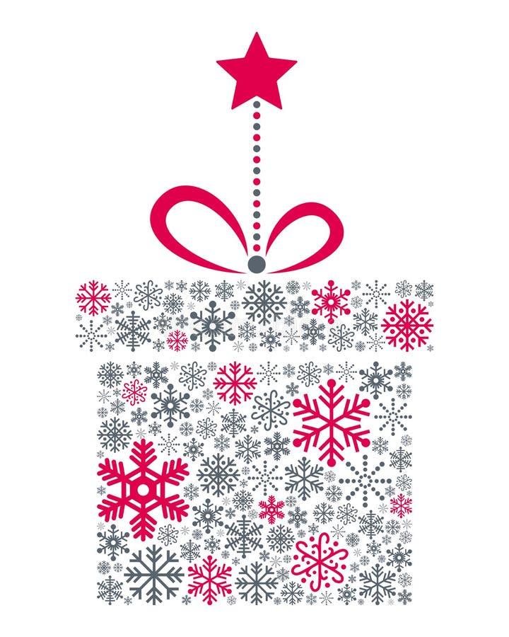 Płatków śniegu bożych narodzeń prezent royalty ilustracja