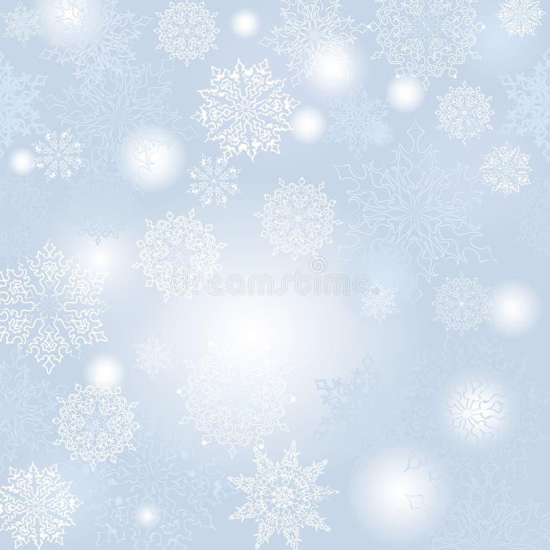 Płatków śniegu bożych narodzeń wzór ilustracji