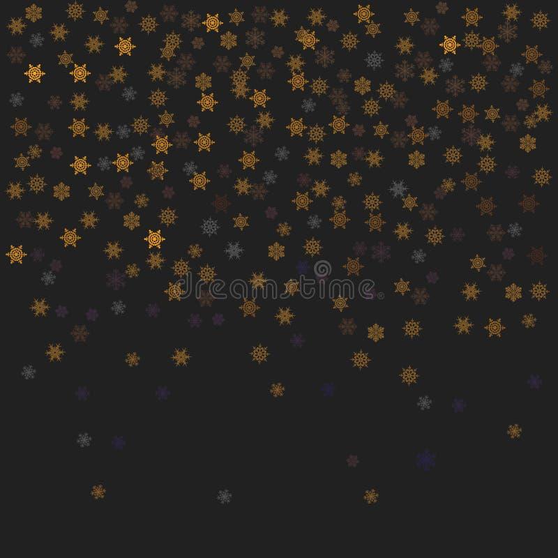 Płatków śniegu confetti ilustracja ilustracja wektor
