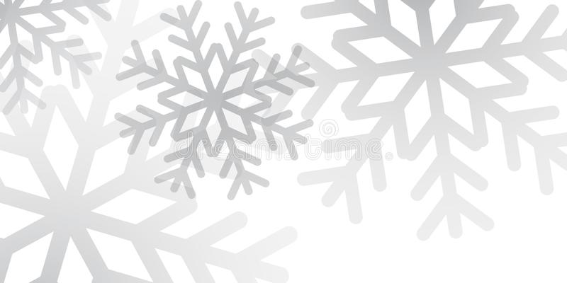 Płatka śniegu tła śnieżny projekt royalty ilustracja