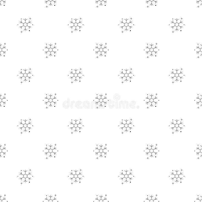 Płatka śniegu tło od kreskowej ikony liniowy wektoru wzór ilustracji