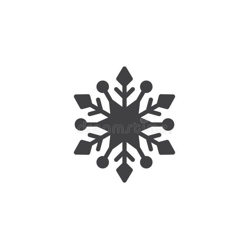 Płatka śniegu wektoru ikona ilustracja wektor