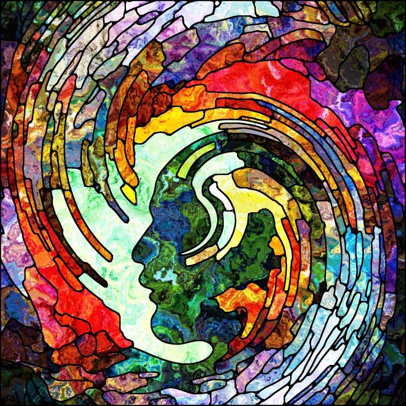 Płatki Ślimakowaty kolor ilustracja wektor