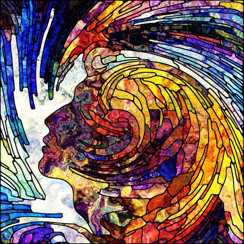 Płatki Ślimakowaty kolor ilustracji