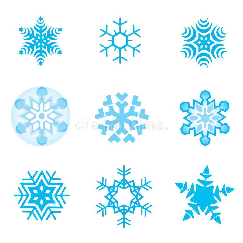 płatki śnieżni royalty ilustracja
