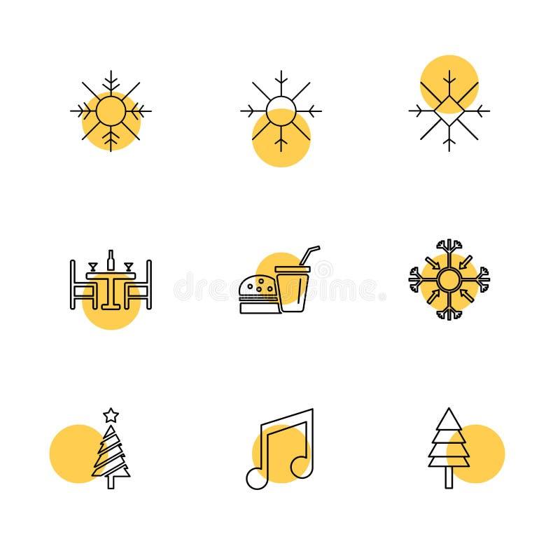 płatki śniegu, boże narodzenia, 25 Dec, zimy, muzyka, drzewo, drzewa ilustracja wektor