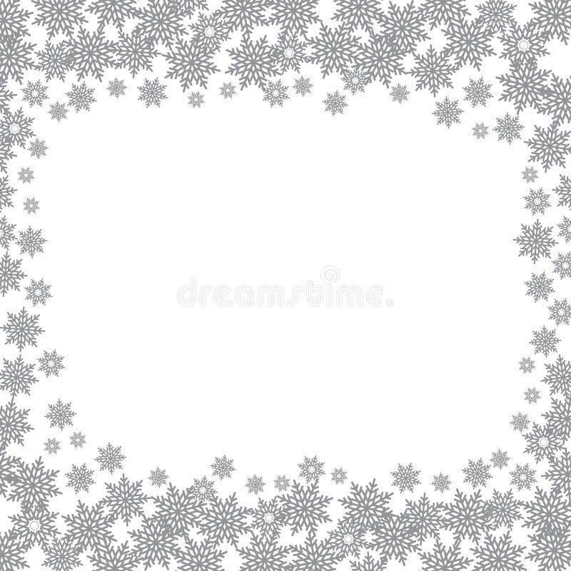 Płatki śniegu obramiają wektor ilustracji