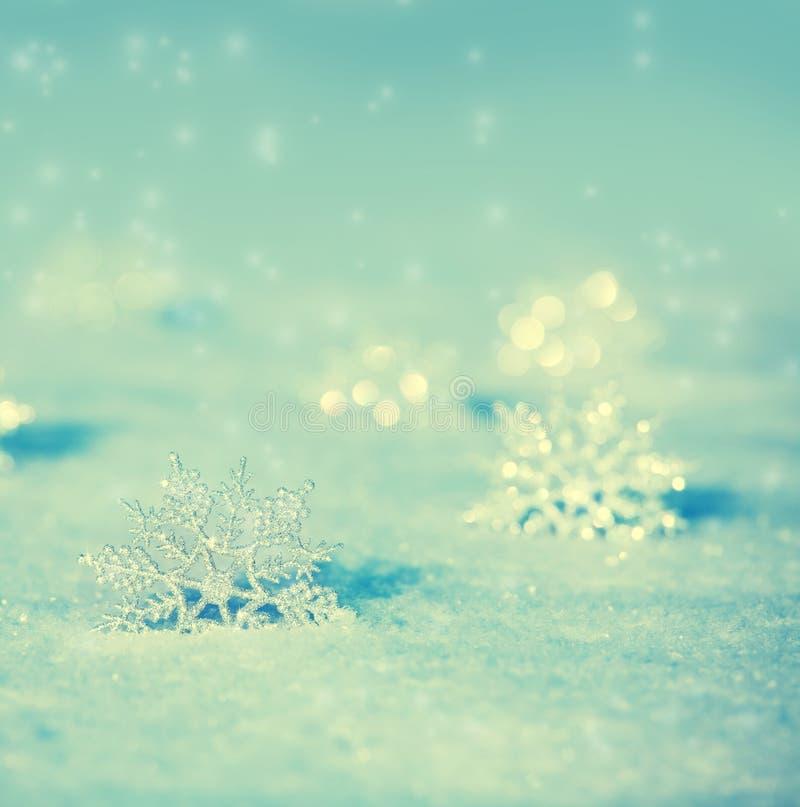 Płatki śniegu w zimie obraz royalty free