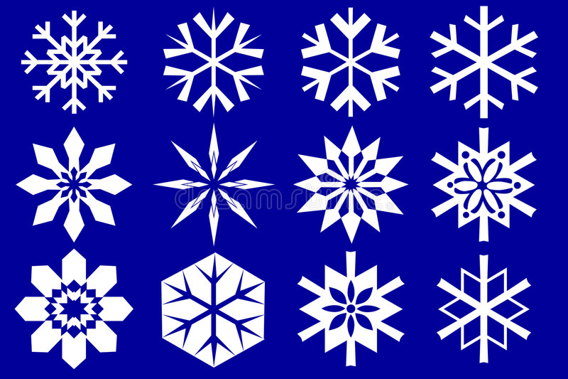 płatki śniegu zbierania danych ilustracji