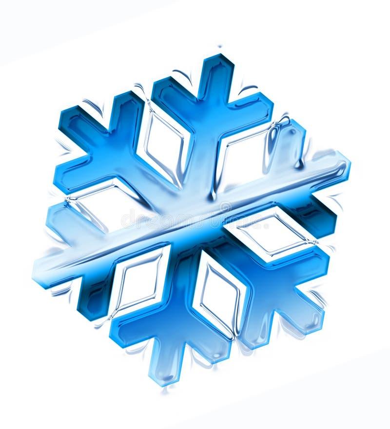płatkiem śniegu ilustracja wektor