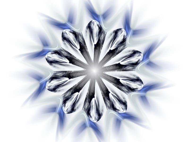 płatkiem śniegu ilustracji