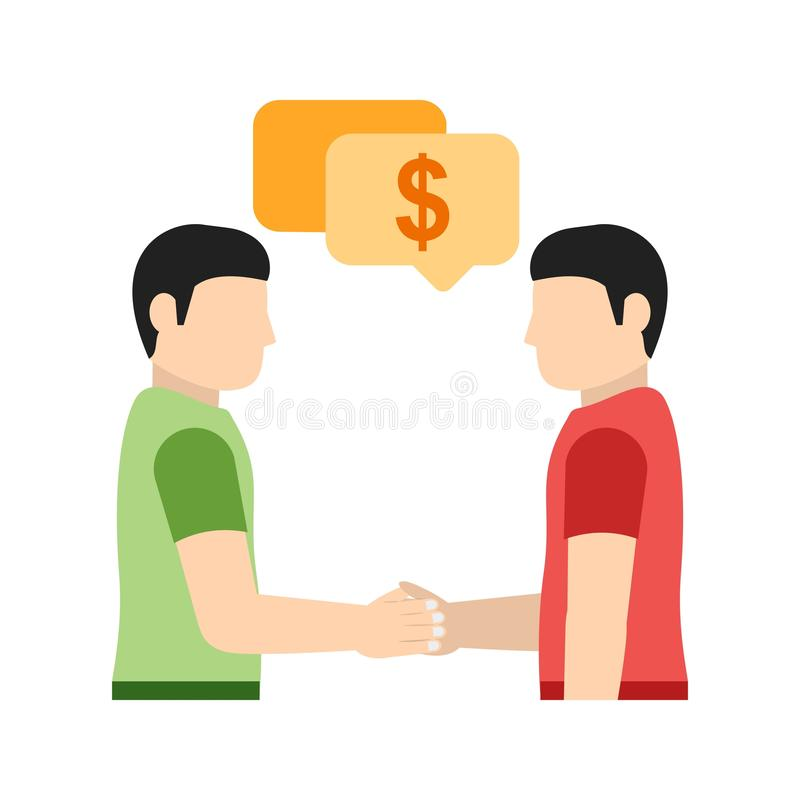 Płatnicza dyskusja royalty ilustracja