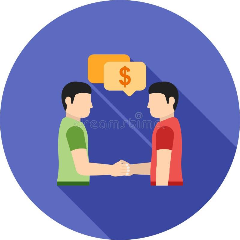 Płatnicza dyskusja ilustracja wektor