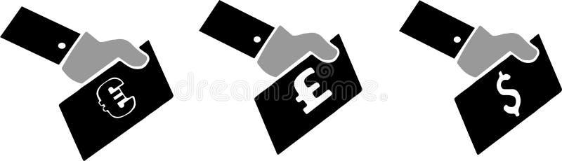Płatnicza metody ikona na białym tle royalty ilustracja