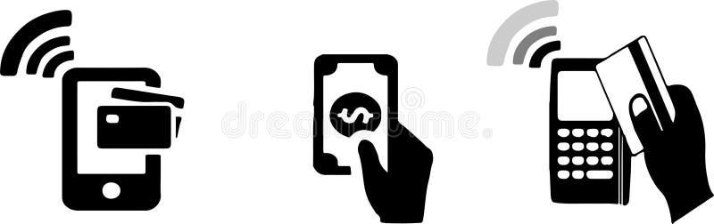 Płatnicza metody ikona na białym tle ilustracja wektor