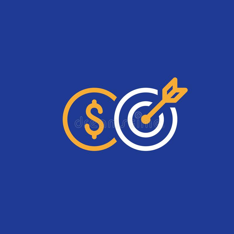 Płatnicza zaliczka, kredytowy wynik, bankowość i finansowanie, kreskowa ikona ilustracji