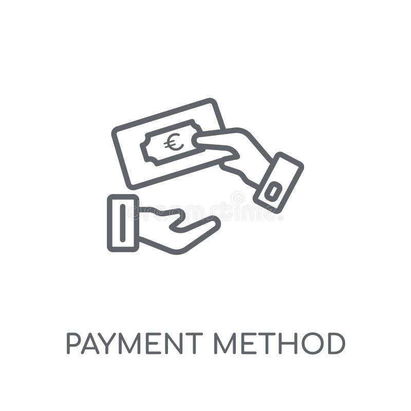 Płatniczej metody liniowa ikona Nowożytnego konturu metody Płatniczy logo c ilustracji