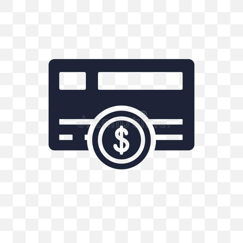 Płatniczej metody przejrzysta ikona Płatniczy metoda symbolu projekt fr royalty ilustracja