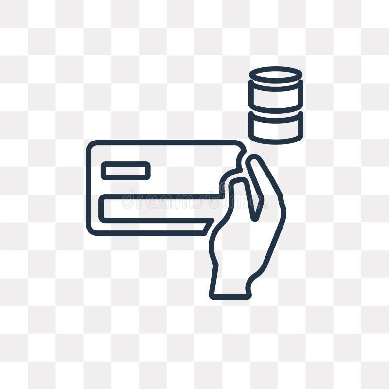 Płatniczej metody wektorowa ikona odizolowywająca na przejrzystym tle, l ilustracja wektor
