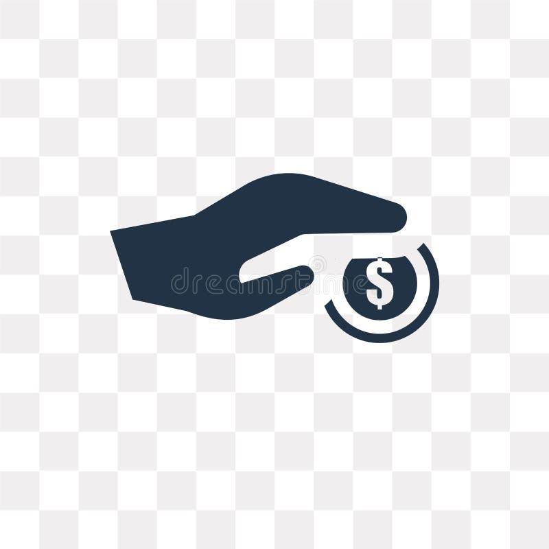Płatniczej metody wektorowa ikona odizolowywająca na przejrzystym tle, P royalty ilustracja
