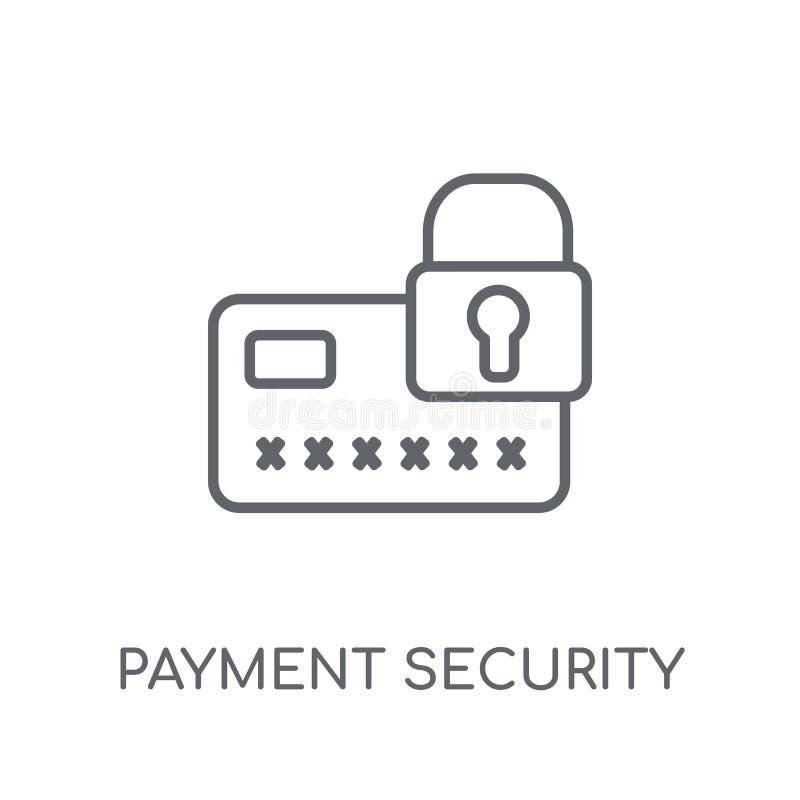 Płatniczej ochrony liniowa ikona Nowożytnego konturu ochrony Płatniczy lo ilustracji