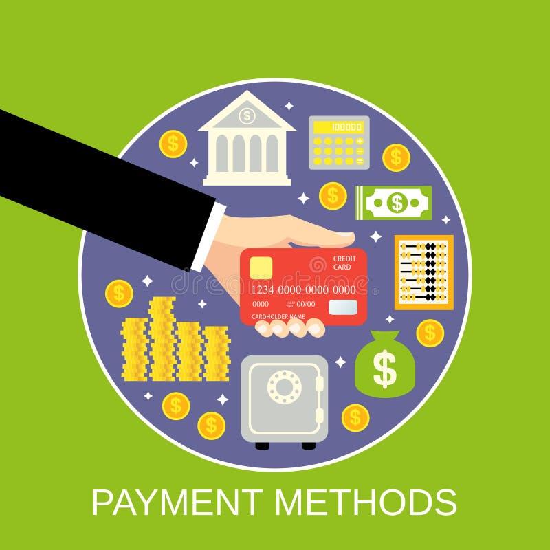 Płatniczy metody pojęcie ilustracja wektor
