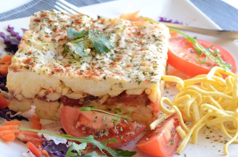 Płatowaty jarski pomidorowy makaron zdjęcie royalty free