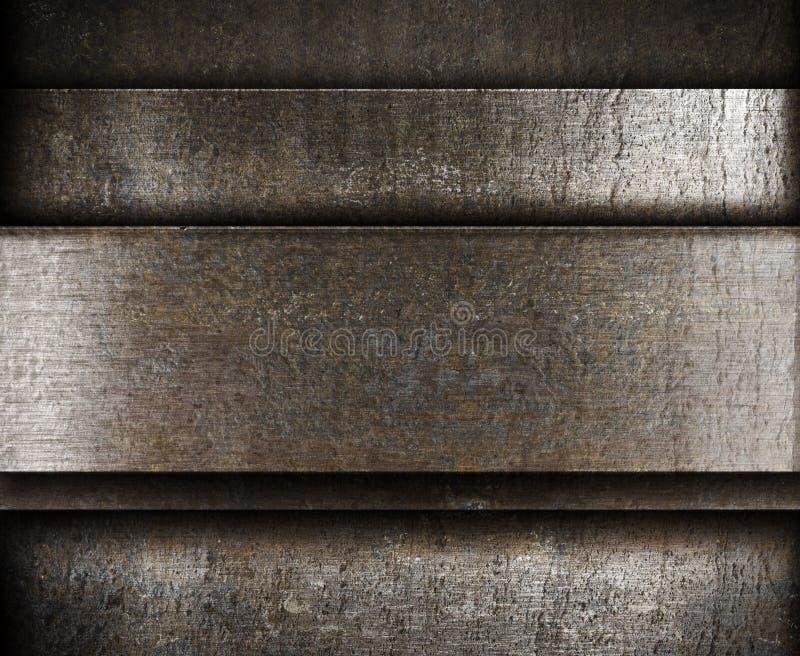 Płatowaty metalu tło zdjęcia stock