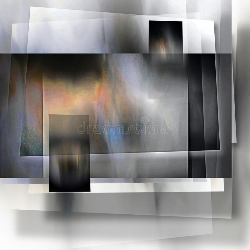 Płatowaty Ocieniony panelu abstrakt fotografia stock