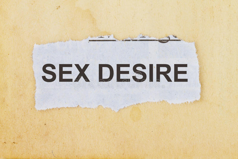 Płci pragnienie obraz royalty free