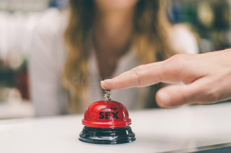 Płeć dzwon na recepcyjnym biurku obraz royalty free