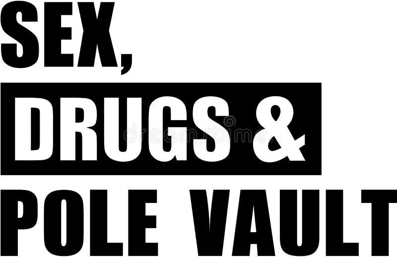 Płeć narkotyzuje słup kryptę ilustracji