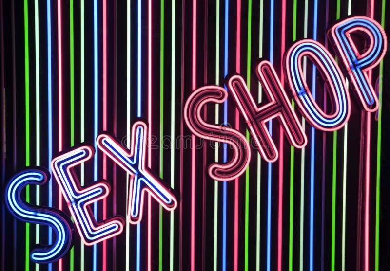 Płeć sklep iluminujący znak obraz stock