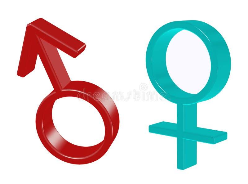 Płeć symbole ilustracji