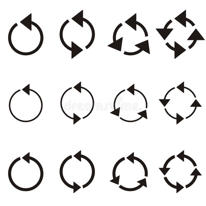 Płodozmienne okrąg strzała ilustracja wektor