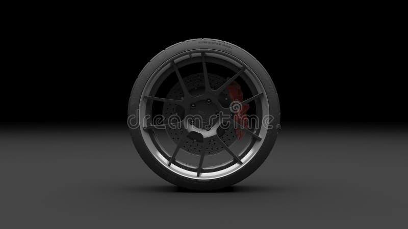 Płodozmienny koło na ciemnym tle ?wiadczenia 3 d ilustracji
